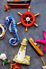 incorporate nautical christmas ornaments